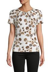 Calvin Klein Floral Short-Sleeve Top