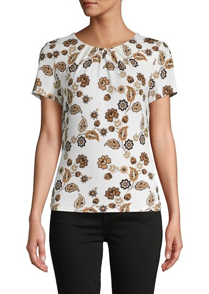 Calvin Klein Floral Short-Sleeve Top