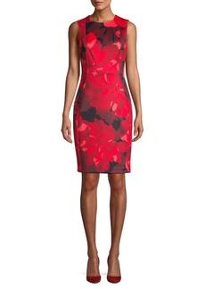 Calvin Klein Floral Sleeveless Sheath Dress