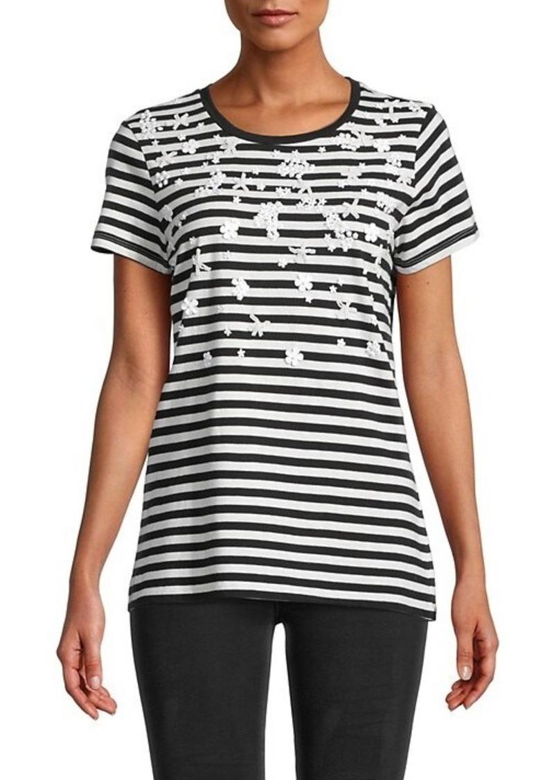 Calvin Klein Floral Striped T-Shirt