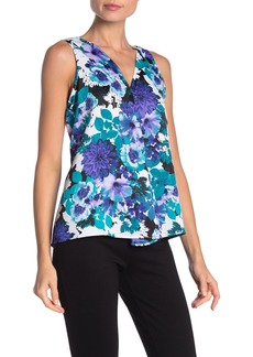 Calvin Klein Floral V-Neck Sleeveless Top