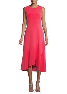 Calvin Klein Flounced Midi Flare Dress