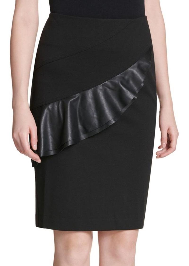 Calvin Klein Flounced Pencil Skirt