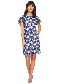 Calvin Klein Flutter Sleeve A-line Lace Dress CD8L16KL