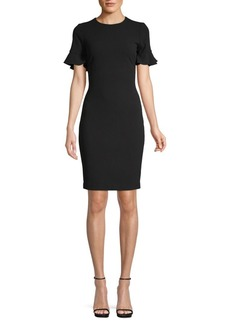 Calvin Klein Flutter-Sleeve Sheath Dress