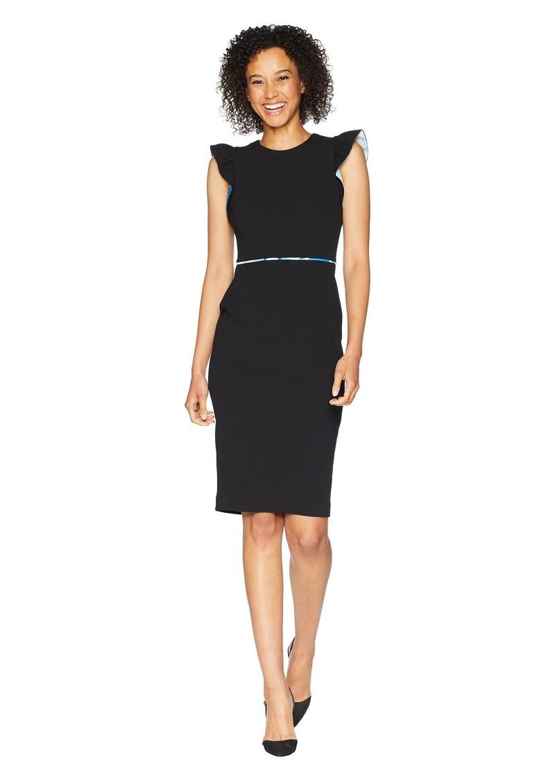 c9d4c96c On Sale today! Calvin Klein Flutter Sleeve Sheath Dress CD8C11NB