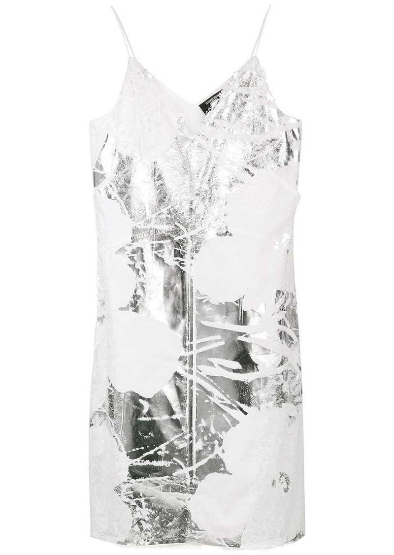 Calvin Klein foil and lace dress
