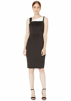 Calvin Klein Fold-Over Neck Sheath Dress