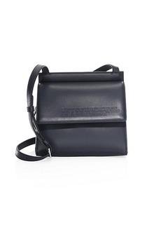 Calvin Klein Foldover Leather Crossbody Bag