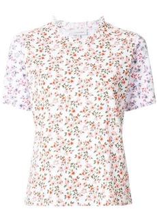 Calvin Klein frill collar floral T-shirt