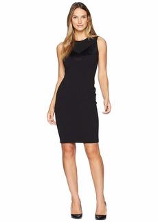 Calvin Klein Fringe Detail At Bodice Sheath Dress CD8C14QL