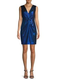 Calvin Klein Front-Knot Sheath Dress