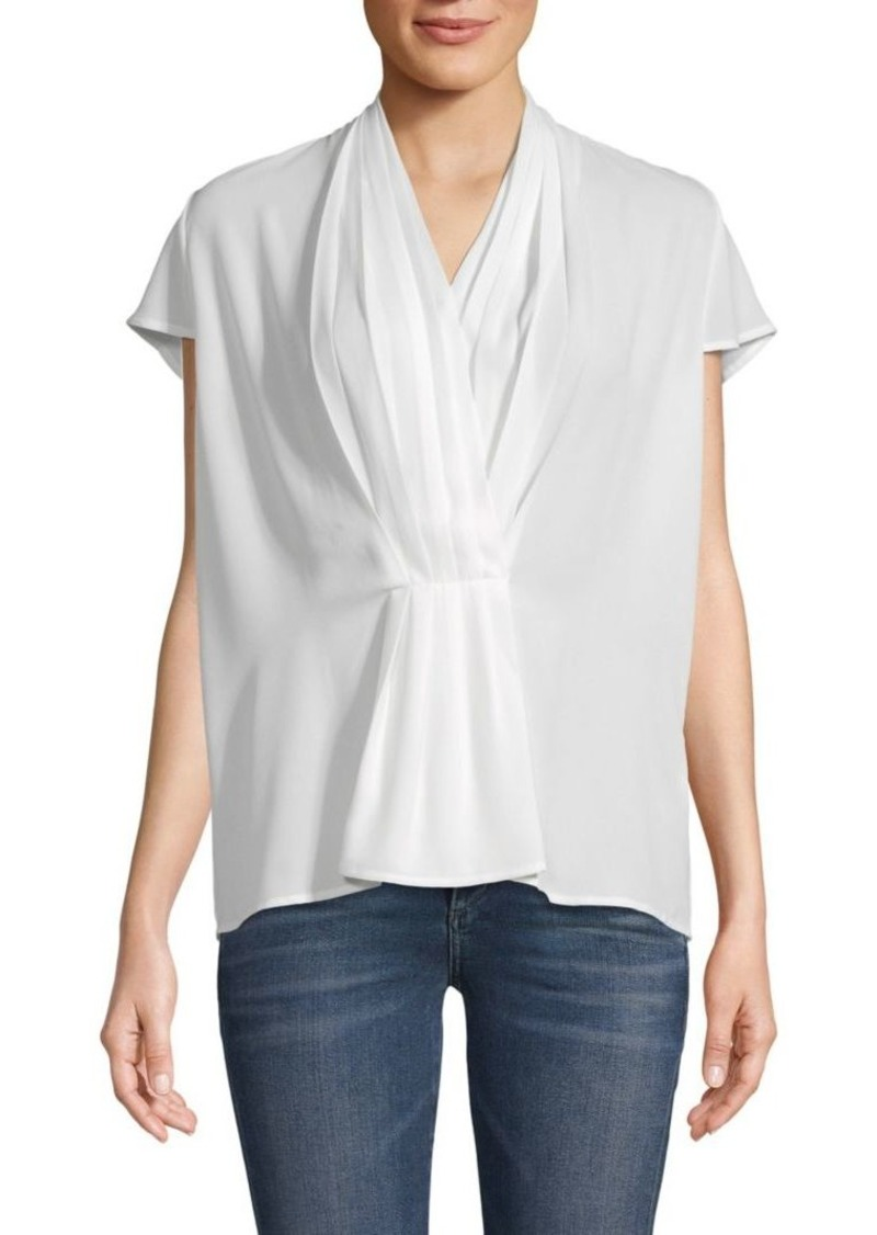Calvin Klein Front-Pleat Top