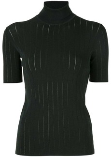 Calvin Klein funnel-neck short-sleeve top