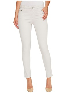 Calvin Klein Garment Dyed Ankle Skinny Pants in Lilac Marble