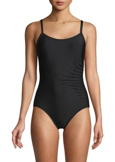 Calvin Klein Gathered Starburst One-Piece Swimsuit