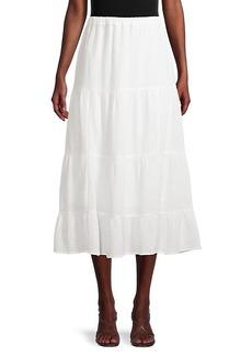 Calvin Klein Gauze Textured Tiered Skirt