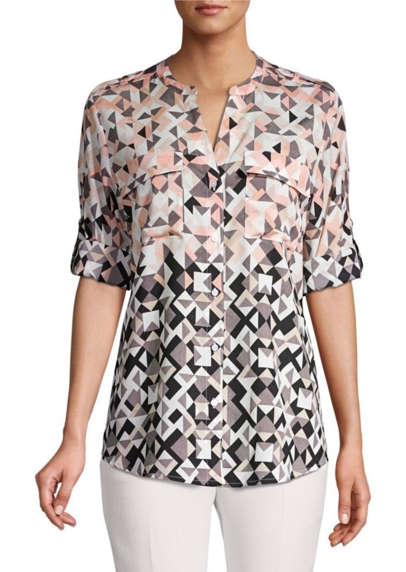 Calvin Klein Geometric Button-Down Shirt