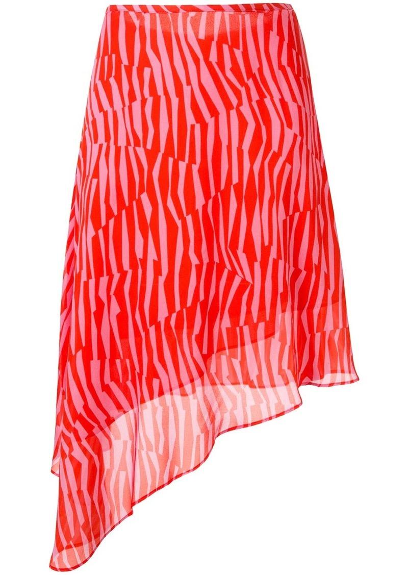 Calvin Klein Georgette stripe patterned skirt