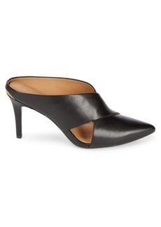 Calvin Klein Gilliana Leather Stiletto Mules
