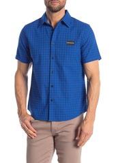 Calvin Klein Gingham Logo Short Sleeve Regular Fit Shirt