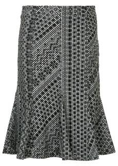 Calvin Klein gingham ruffle hem midi skirt