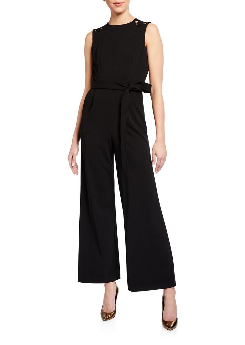 Calvin Klein Gold Tabs Belted Jumpsuit