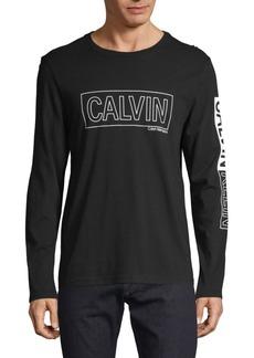 Calvin Klein Graphic Long-Sleeve Cotton Tee