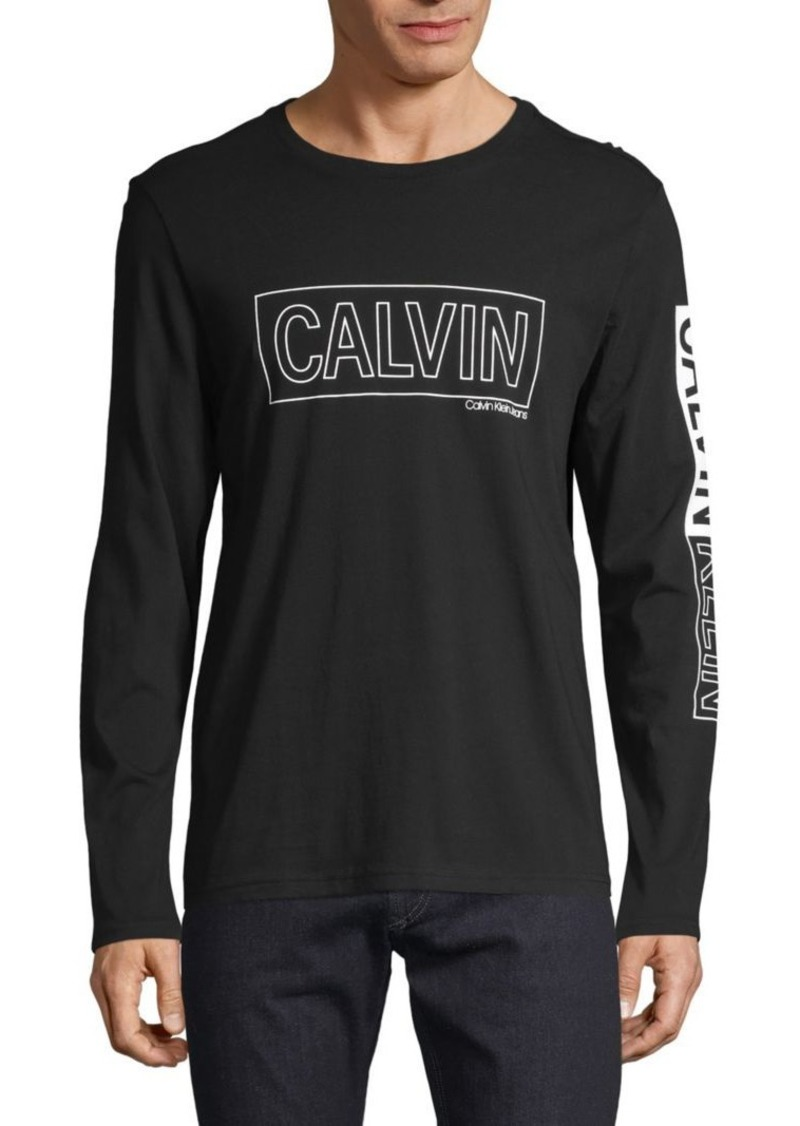 Calvin Klein Graphic Long-Sleeve Cotton Tee