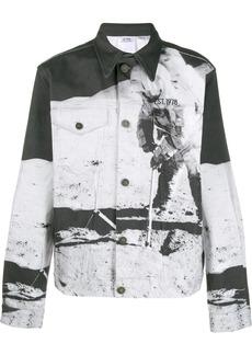 Calvin Klein graphic print denim jacket