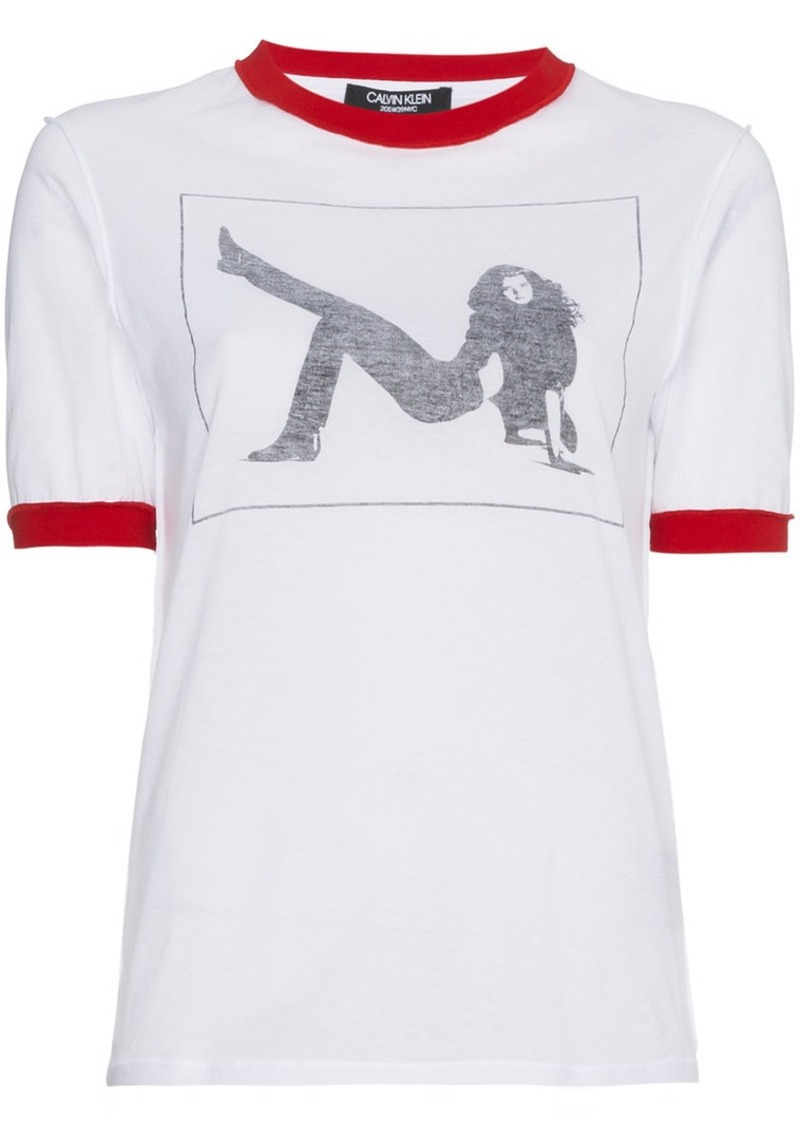 Calvin Klein Graphic Print Jersey T Shirt