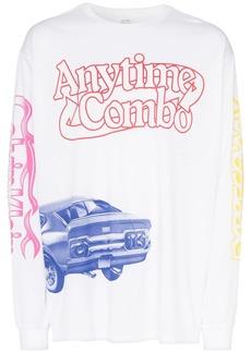 Calvin Klein graphic print long-sleeved T-shirt