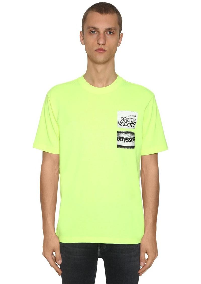 Calvin Klein Graphic Printed Cotton Blend T-shirt