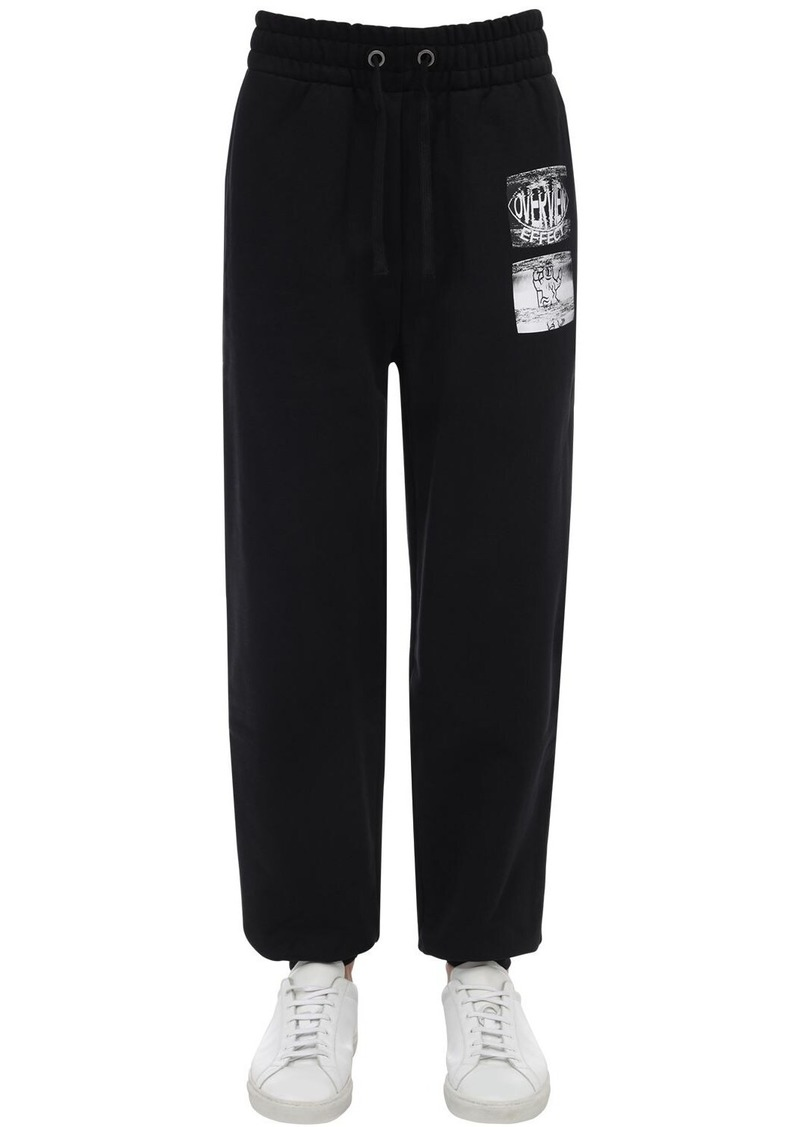 Calvin Klein Graphic Printed Cotton Sweat Pants