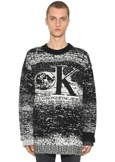 Calvin Klein Graphic Wool Blend Intarsia Sweater