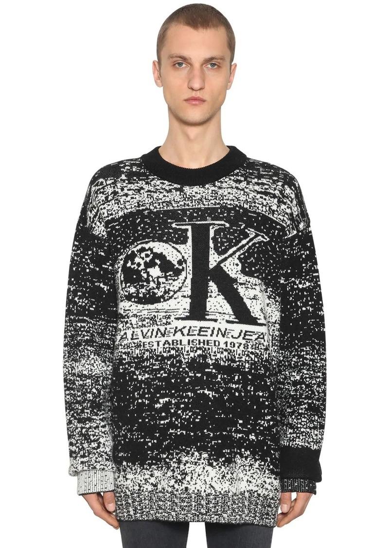 Calvin Klein Graphic Wool Blend Intarsia Sweater