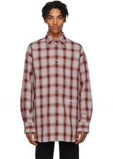 Calvin Klein Grey Oversized Tartan Check Shirt