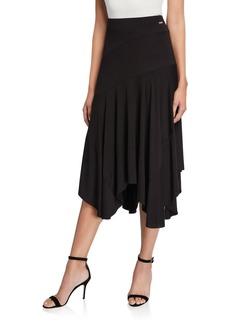 Calvin Klein Handkerchief-Hem Jersey Skirt