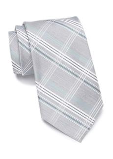 Calvin Klein Heather Plaid Silk Tie