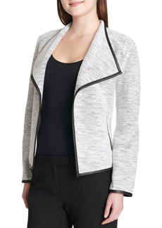 Calvin Klein Heathered Knit Flyaway Jacket