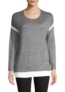 Calvin Klein Heathered Long-Sleeve Sweater