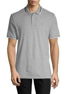 Calvin Klein Heathered Short-Sleeve Polo