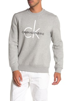 Calvin Klein Heritage Logo Crew Neck Fleece Sweater