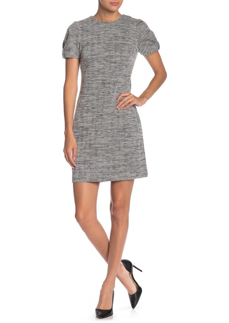 Calvin Klein Herringbone Bow Sleeve Dress