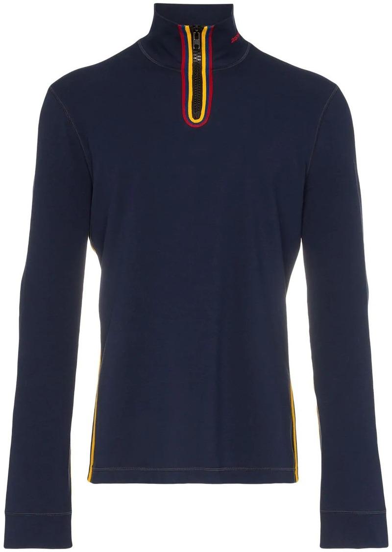 Calvin Klein high neck zip up sweater