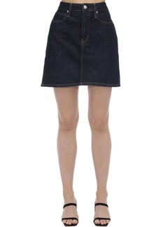Calvin Klein High Rise Cotton Denim Mini Skirt