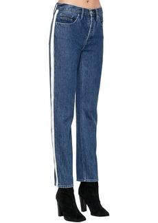Calvin Klein High Rise Denim Jeans W/ Side Bands