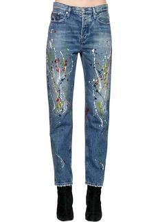 Calvin Klein High Rise Paint Splatter Denim Jeans