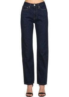 Calvin Klein High Rise Straight Denim Jeans