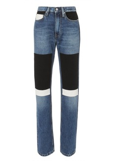 Calvin Klein High-Rise Straight Patch Jeans